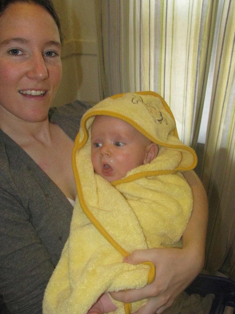 Sean in towel